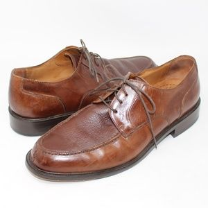 Split Toe LEATHER OUTSOLE Oxford Brown Lace-Up